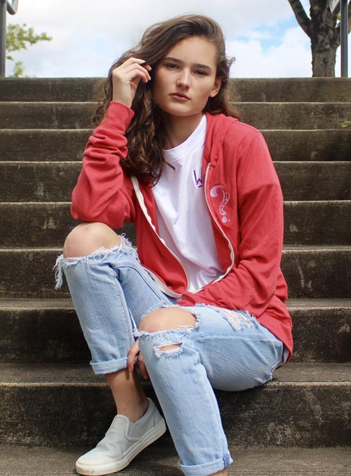 What Clothing Company | Womens Light Red Sweat Shirt