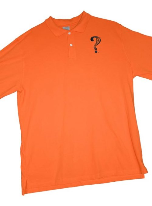 What Clothing Polo Orange Black
