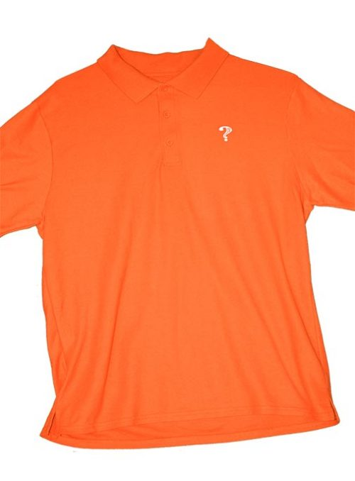 What Clothing Polo Orange White Vinyl